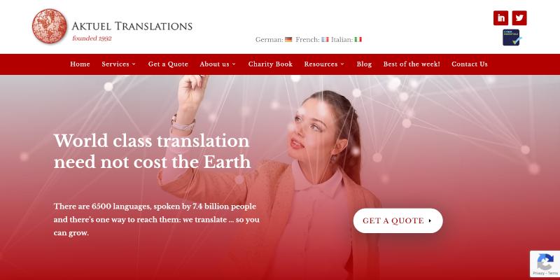Portfolio: Aktuel Translations