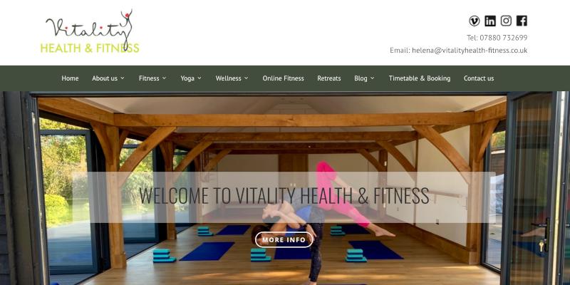 Portfolio: Vitality Health & Fitness