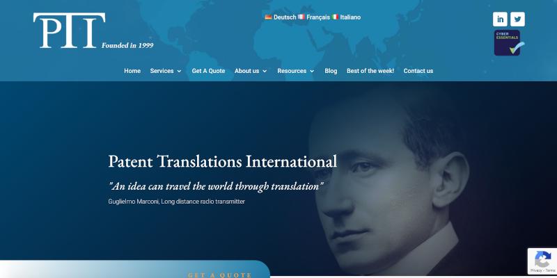 Portfolio: Patent Translations